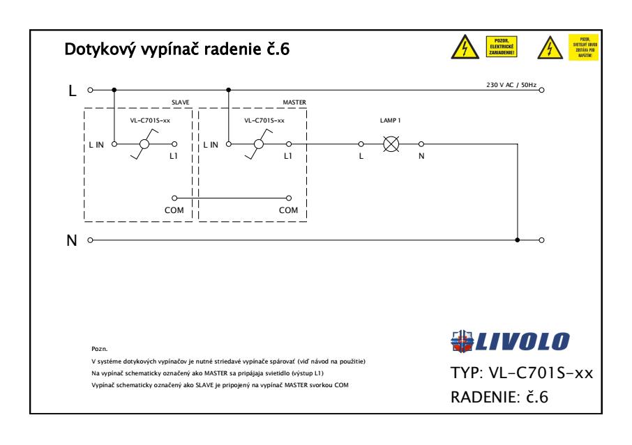 LIVOLO VL-C701S-11 Dotykový vypínač č.6 biely